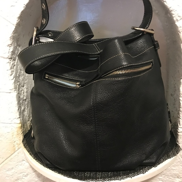 Coach Handbags - COACH black pebble leather handbag